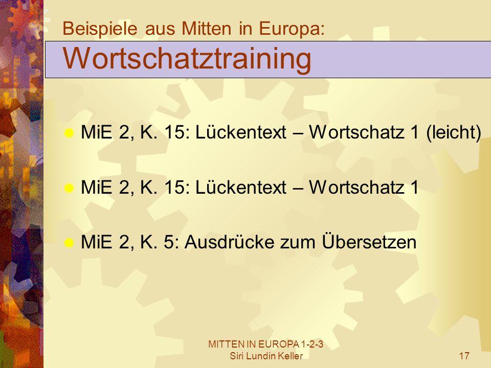 Beispiele aus Mitten in Europa: Wortschatztraining