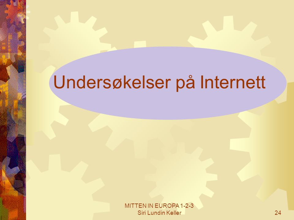 Undersøkelser på Internett