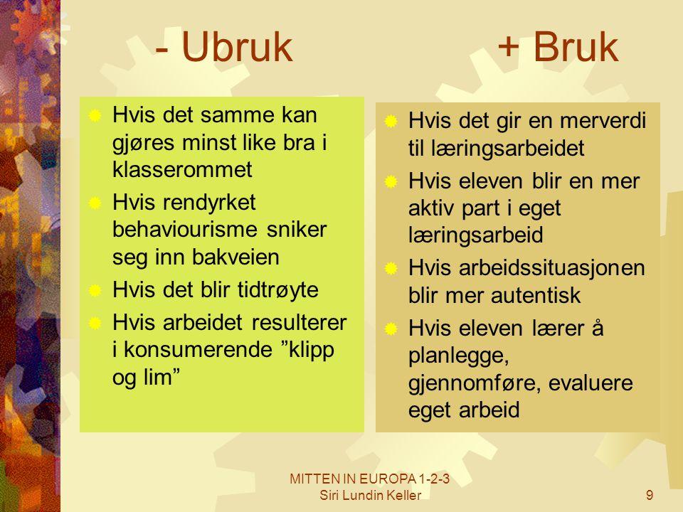 MITTEN IN EUROPA 1-2-3 Siri Lundin Keller