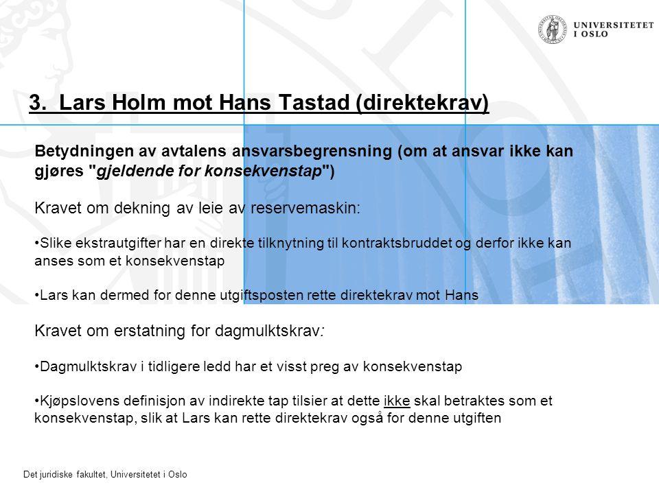 3. Lars Holm mot Hans Tastad (direktekrav)