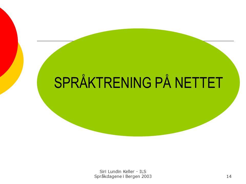 SPRÅKTRENING PÅ NETTET