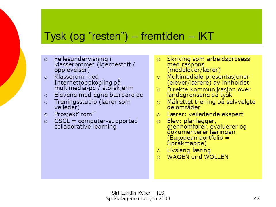 Tysk (og resten ) – fremtiden – IKT