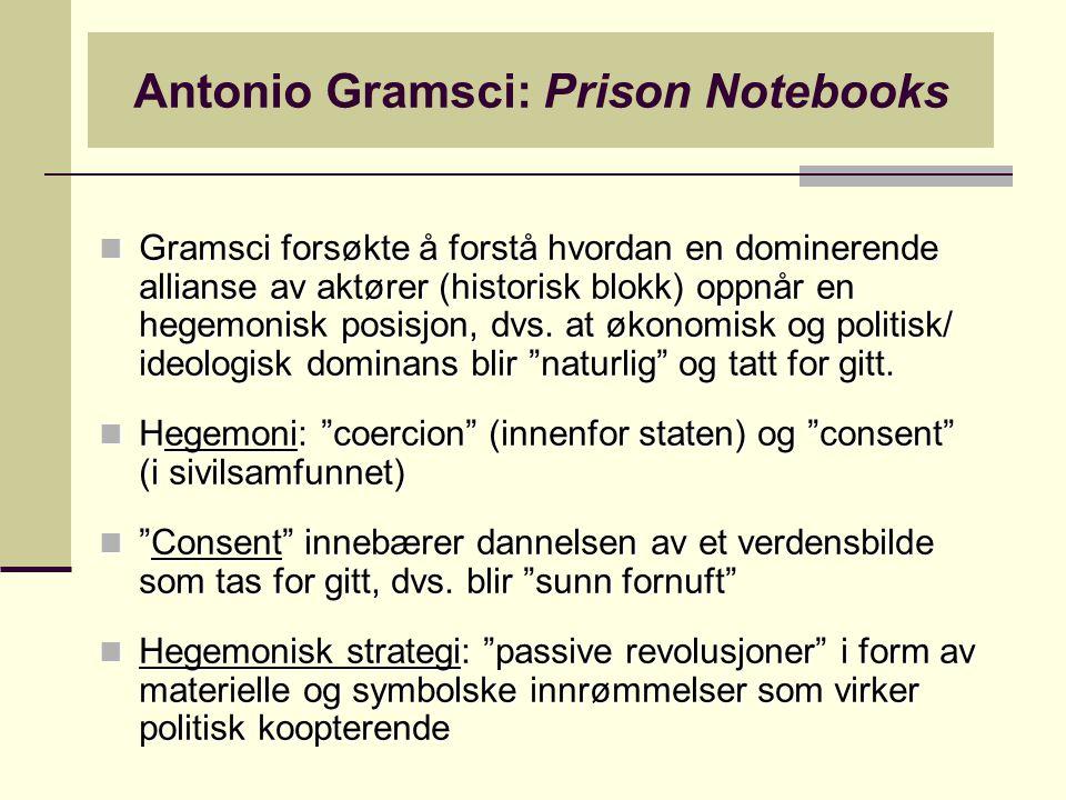 Antonio Gramsci: Prison Notebooks