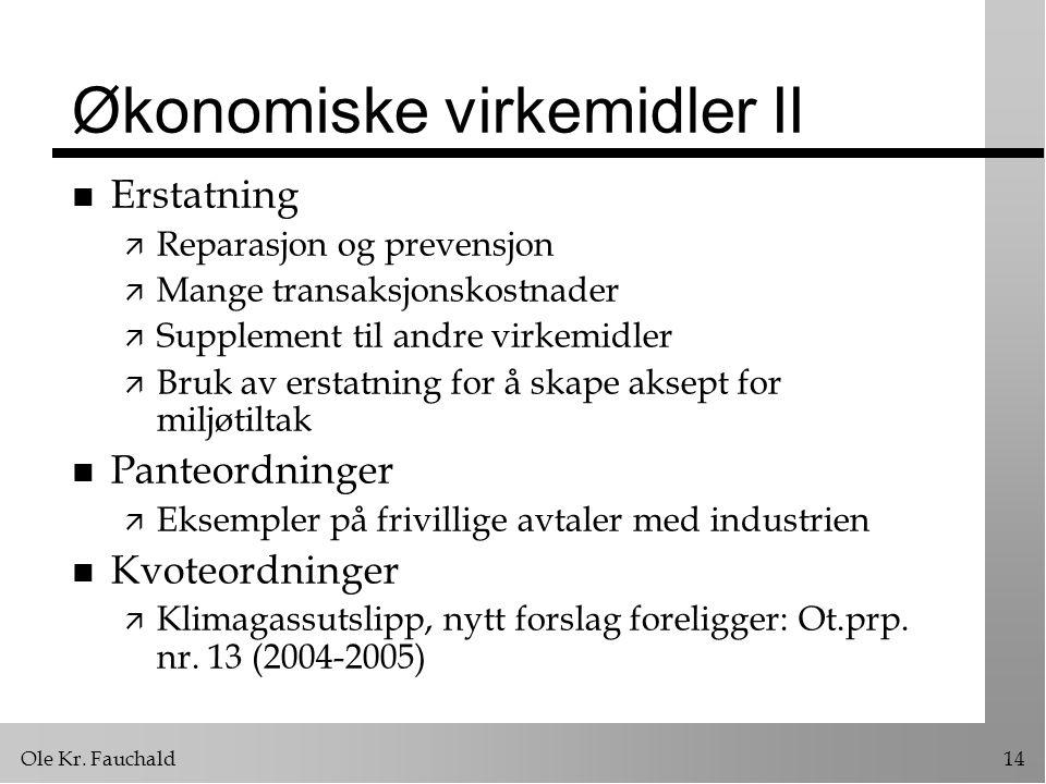 Økonomiske virkemidler II