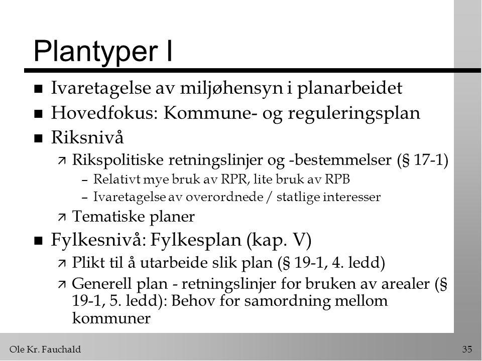 Plantyper I Ivaretagelse av miljøhensyn i planarbeidet