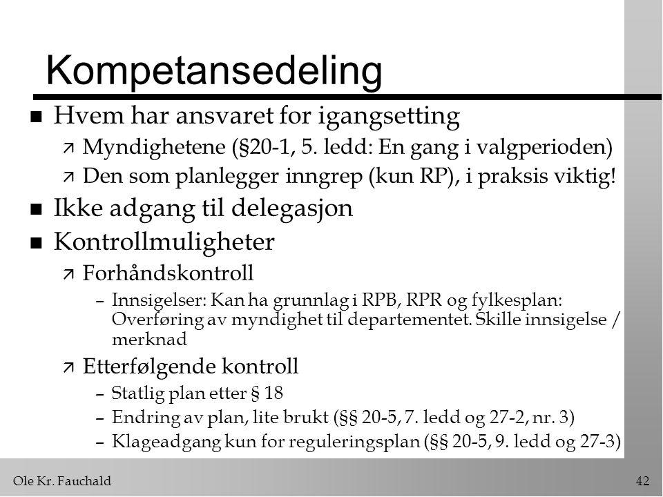 Kompetansedeling Hvem har ansvaret for igangsetting
