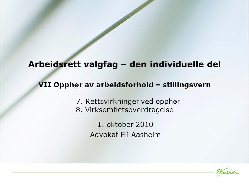 1. oktober 2010 Advokat Eli Aasheim