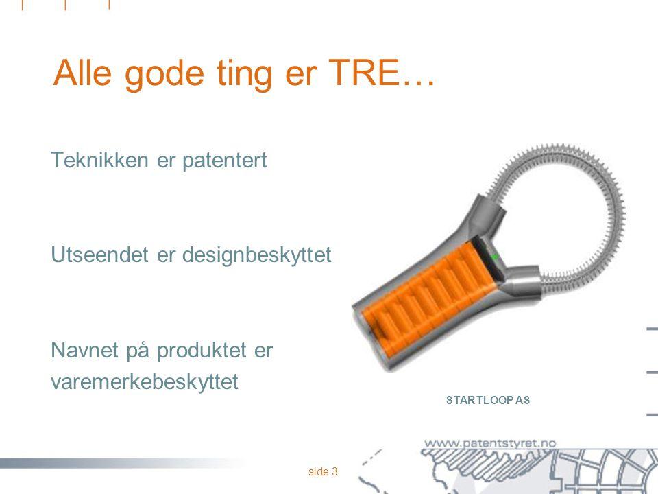 Alle gode ting er TRE… Teknikken er patentert
