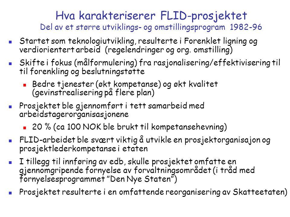 Hva karakteriserer FLID-prosjektet Del av et større utviklings- og omstillingsprogram 1982-96