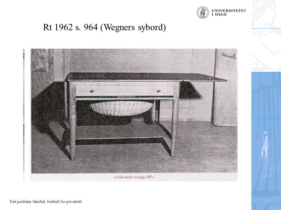 Rt 1962 s. 964 (Wegners sybord)