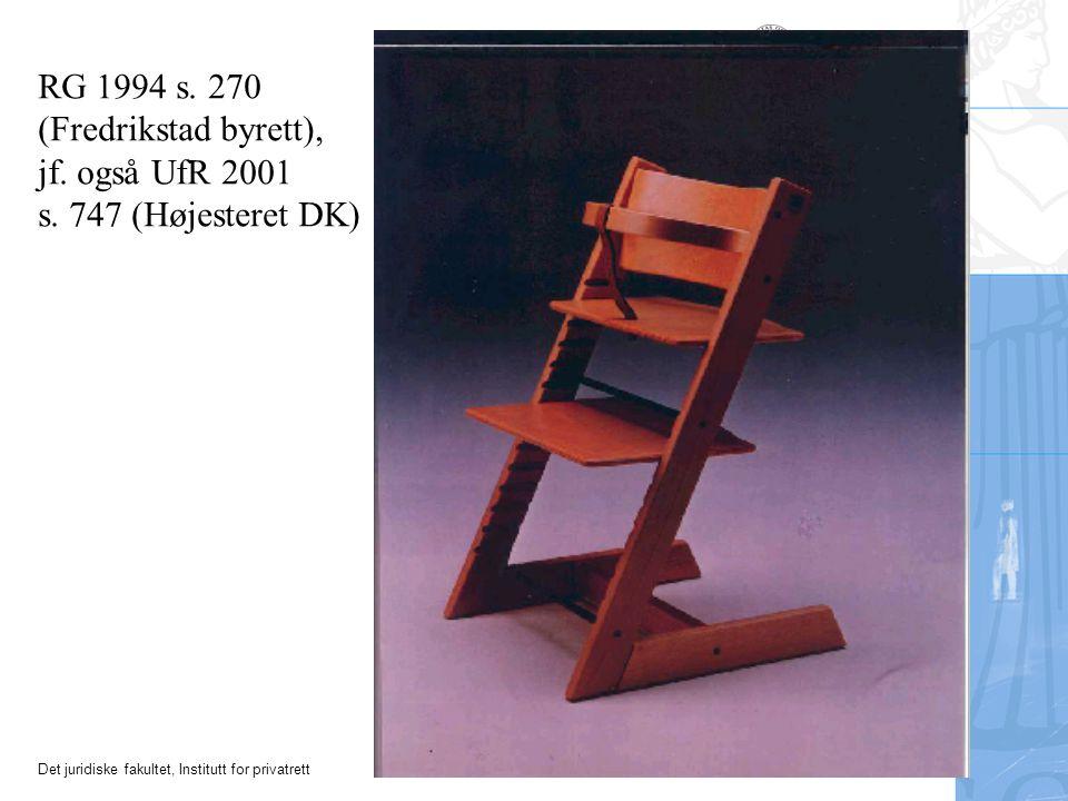RG 1994 s. 270 (Fredrikstad byrett), jf. også UfR 2001 s. 747 (Højesteret DK)
