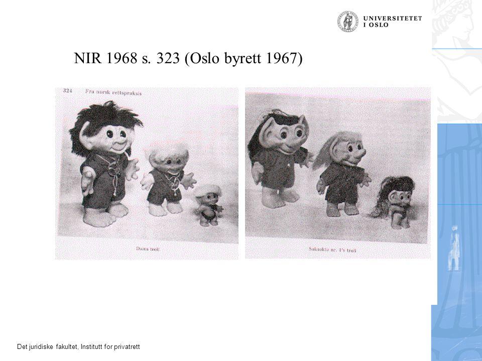 NIR 1968 s. 323 (Oslo byrett 1967)