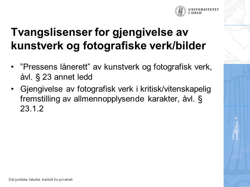 Tvangslisenser for gjengivelse av kunstverk og fotografiske verk/bilder