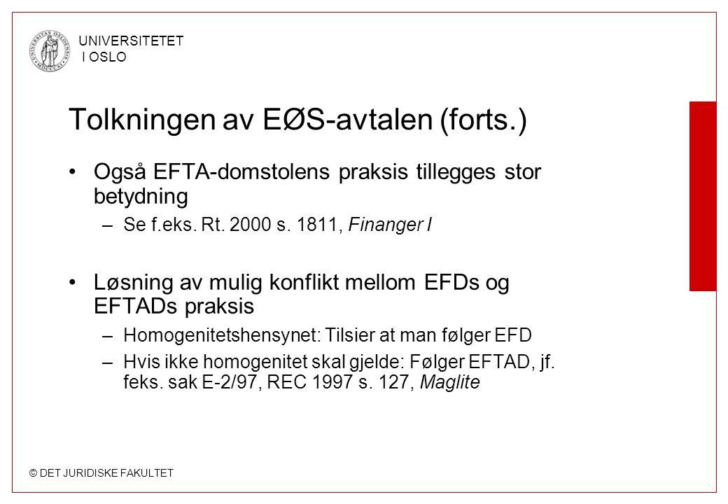 Tolkningen av EØS-avtalen (forts.)