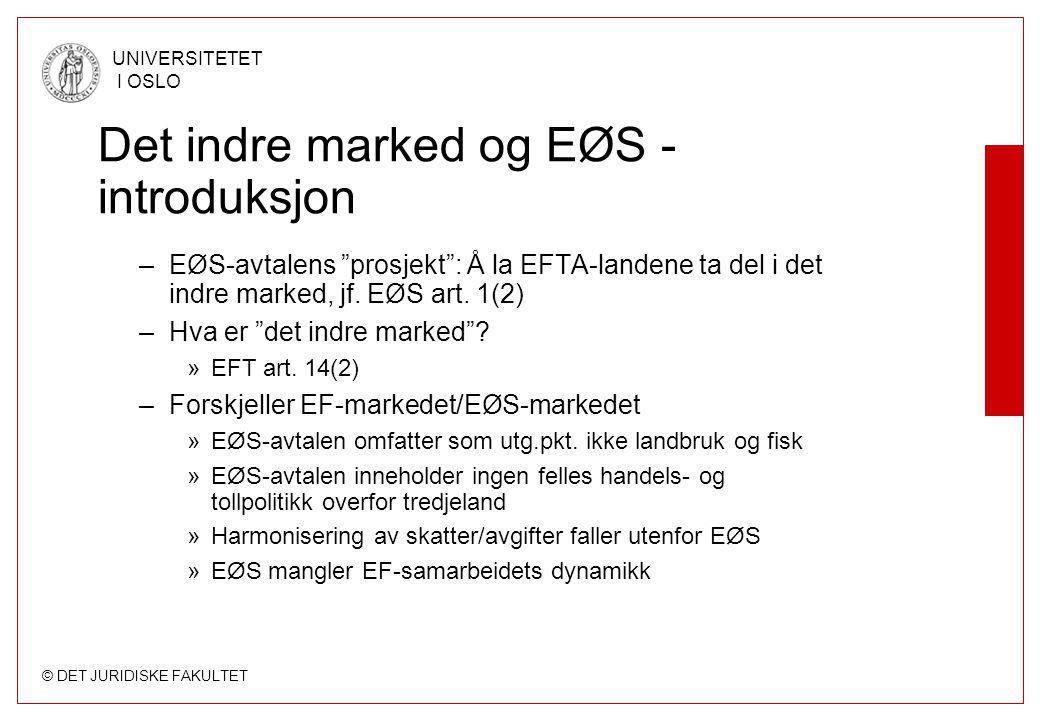 Det indre marked og EØS - introduksjon