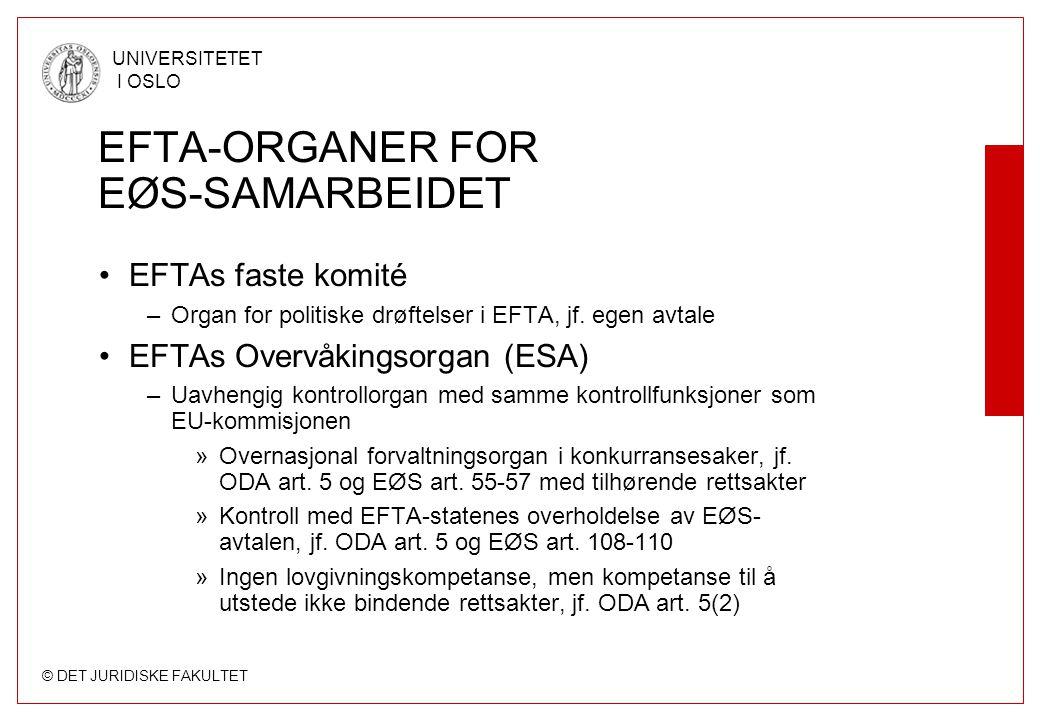 EFTA-ORGANER FOR EØS-SAMARBEIDET
