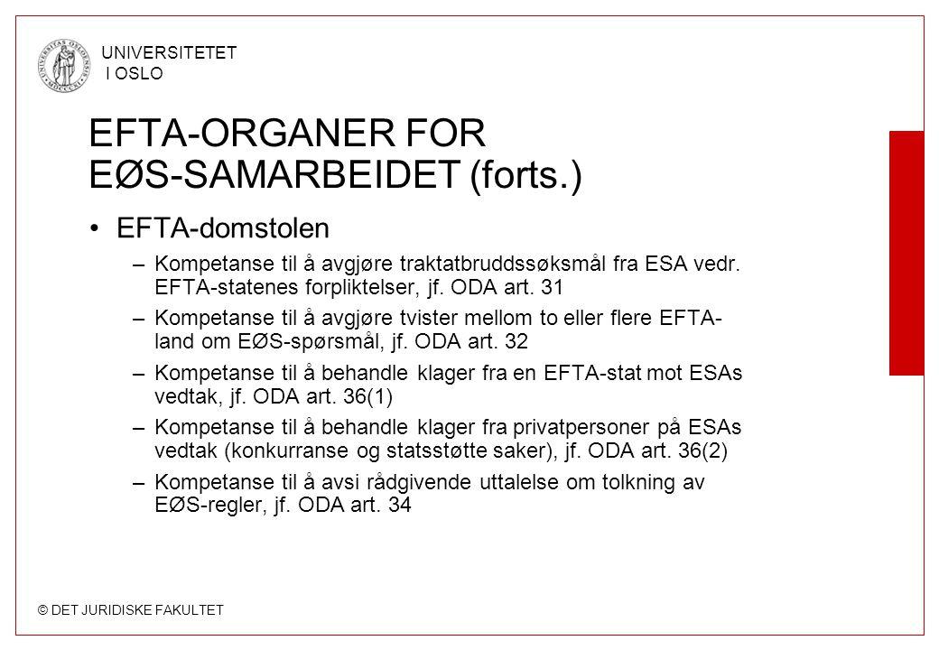EFTA-ORGANER FOR EØS-SAMARBEIDET (forts.)