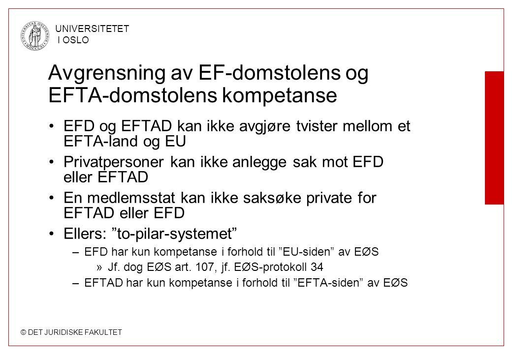 Avgrensning av EF-domstolens og EFTA-domstolens kompetanse
