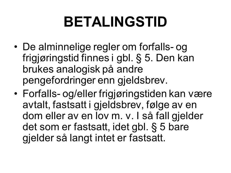 BETALINGSTID