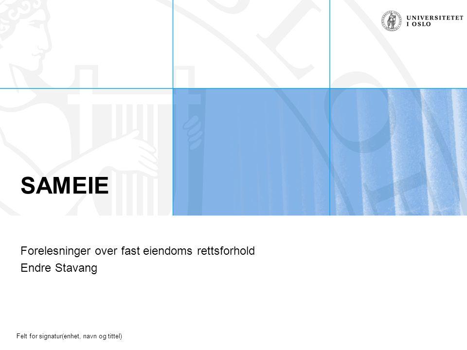 Forelesninger over fast eiendoms rettsforhold Endre Stavang