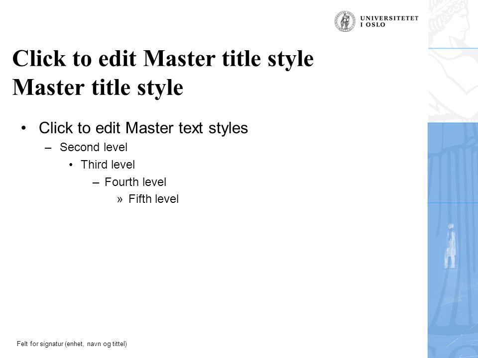 Click to edit Master title style Master title style