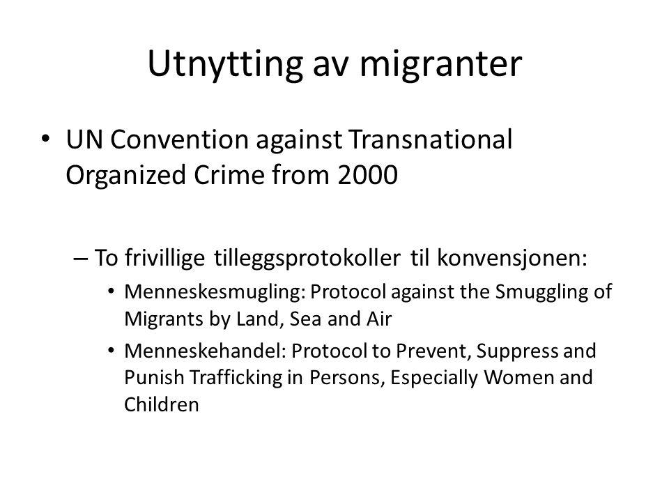 Utnytting av migranter