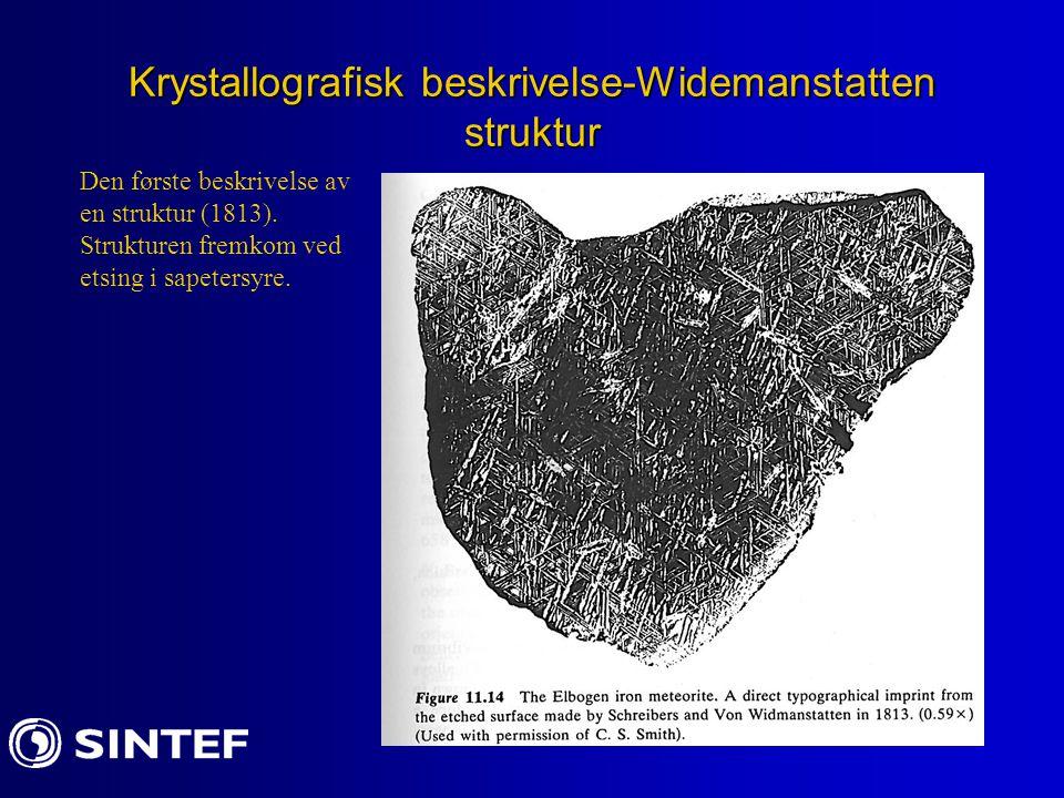 Krystallografisk beskrivelse-Widemanstatten struktur
