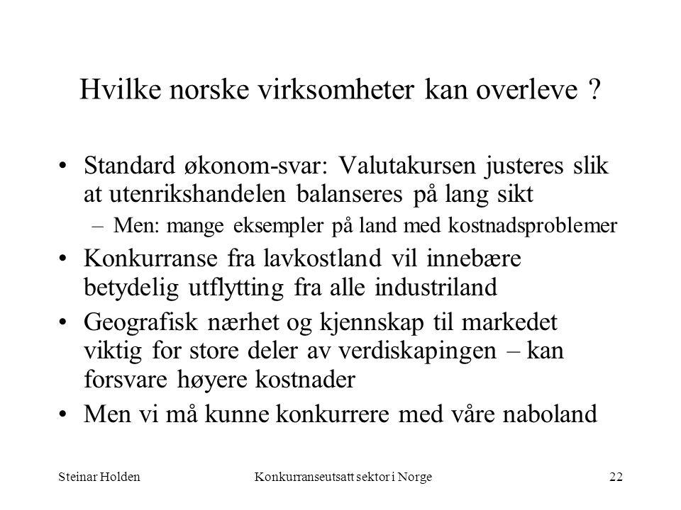 Hvilke norske virksomheter kan overleve