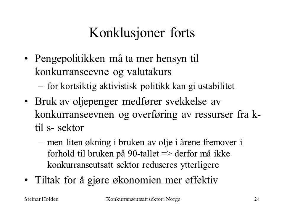 Konkurranseutsatt sektor i Norge