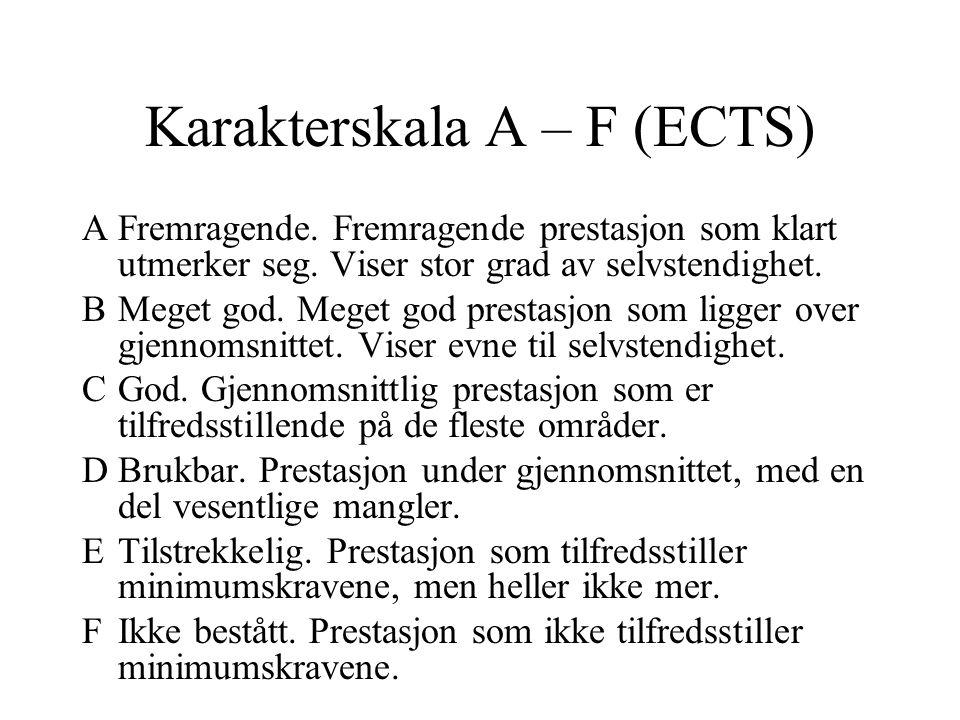 Karakterskala A – F (ECTS)