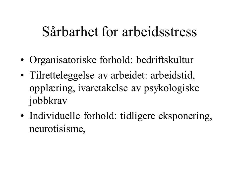 Sårbarhet for arbeidsstress