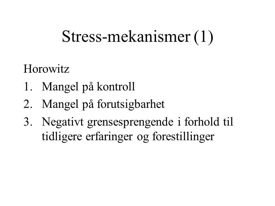 Stress-mekanismer (1) Horowitz Mangel på kontroll