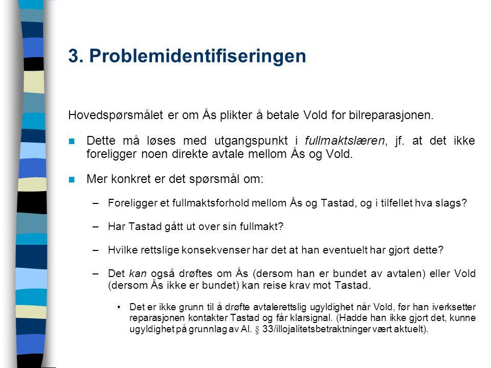 3. Problemidentifiseringen