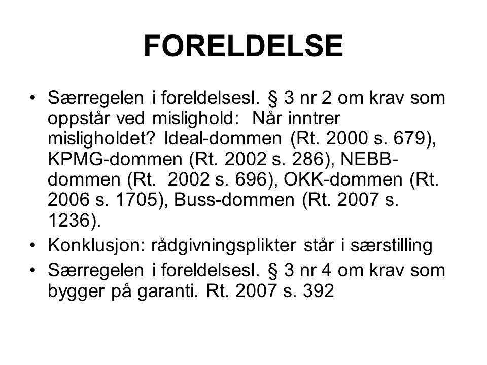FORELDELSE