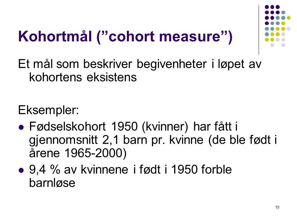 Kohortmål ( cohort measure )