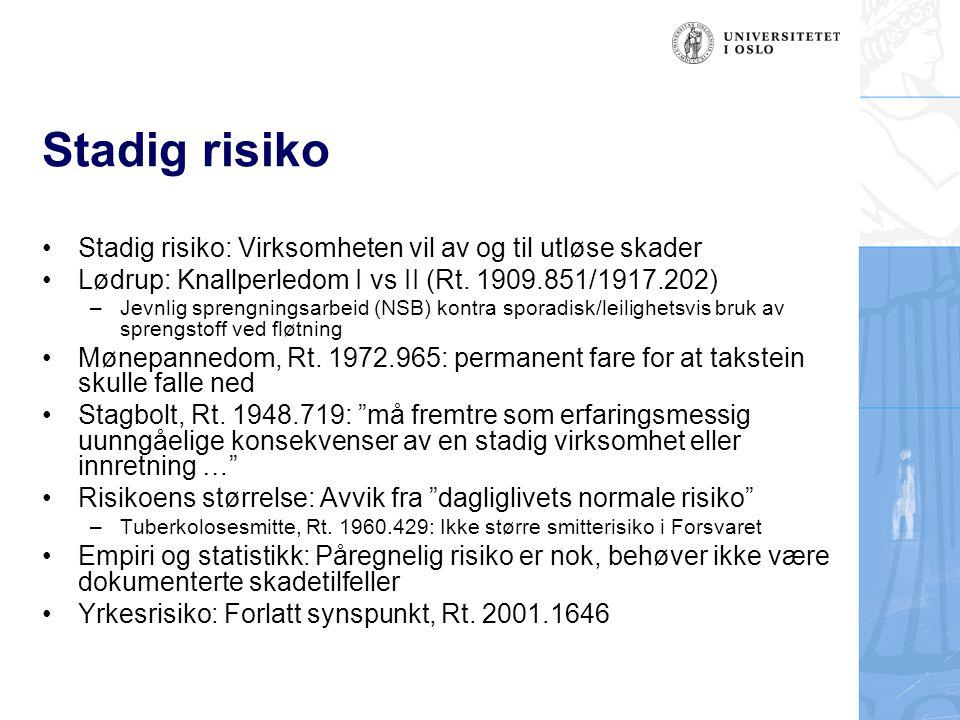 Stadig risiko Stadig risiko: Virksomheten vil av og til utløse skader