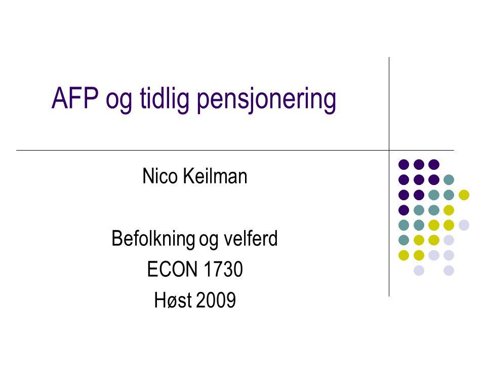 AFP og tidlig pensjonering