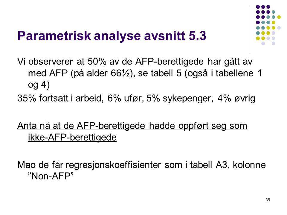 Parametrisk analyse avsnitt 5.3