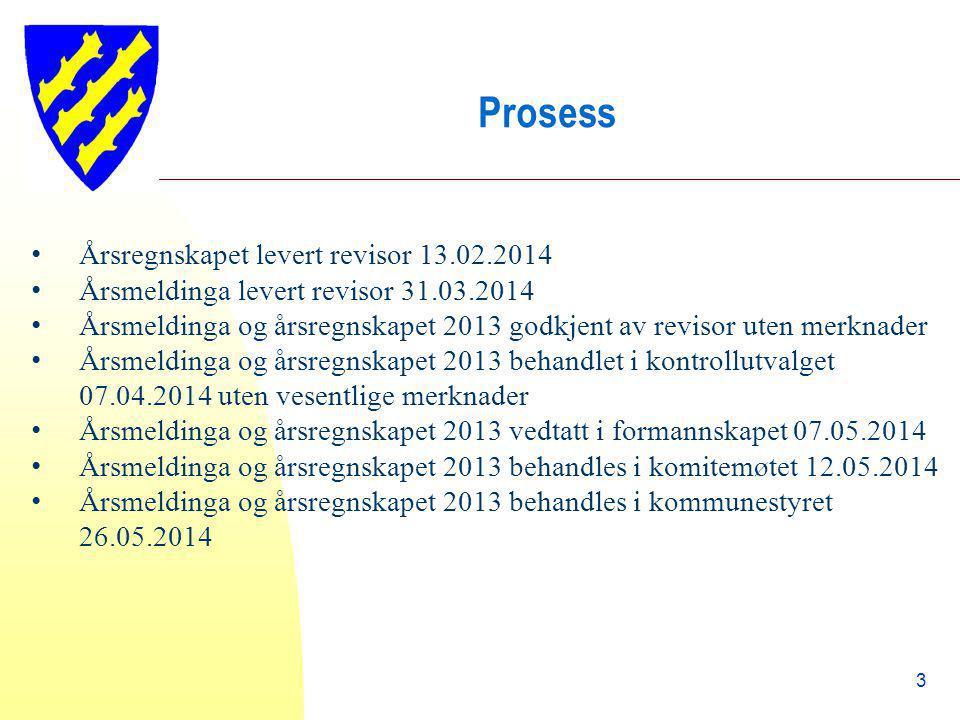 Prosess Årsregnskapet levert revisor 13.02.2014