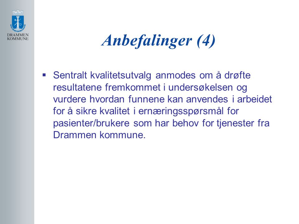 Anbefalinger (4)
