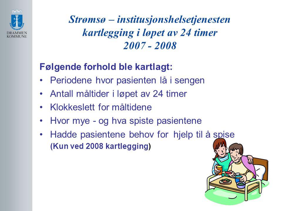 Strømsø – institusjonshelsetjenesten kartlegging i løpet av 24 timer 2007 - 2008