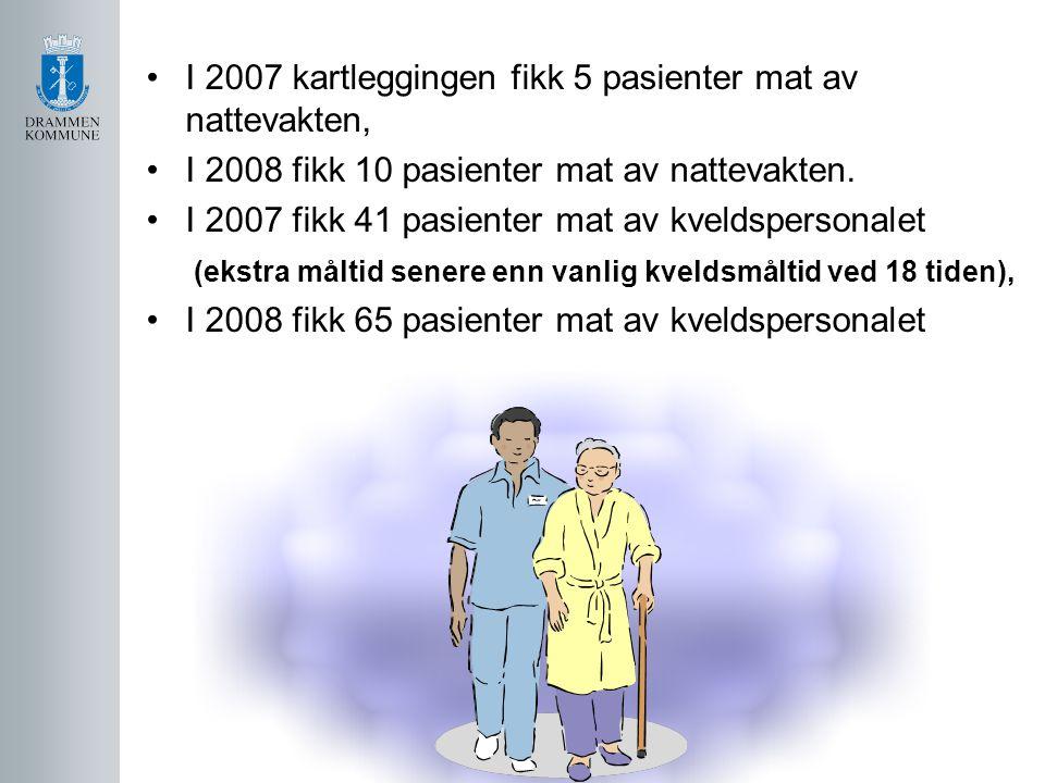 I 2007 kartleggingen fikk 5 pasienter mat av nattevakten,