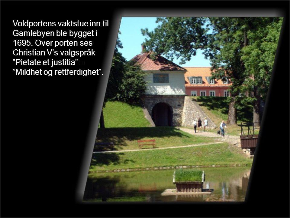 Voldportens vaktstue inn til Gamlebyen ble bygget i 1695