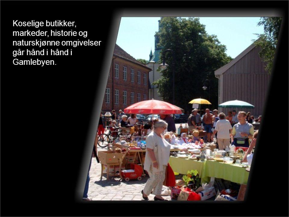 Koselige butikker, markeder, historie og naturskjønne omgivelser går hånd i hånd i Gamlebyen.