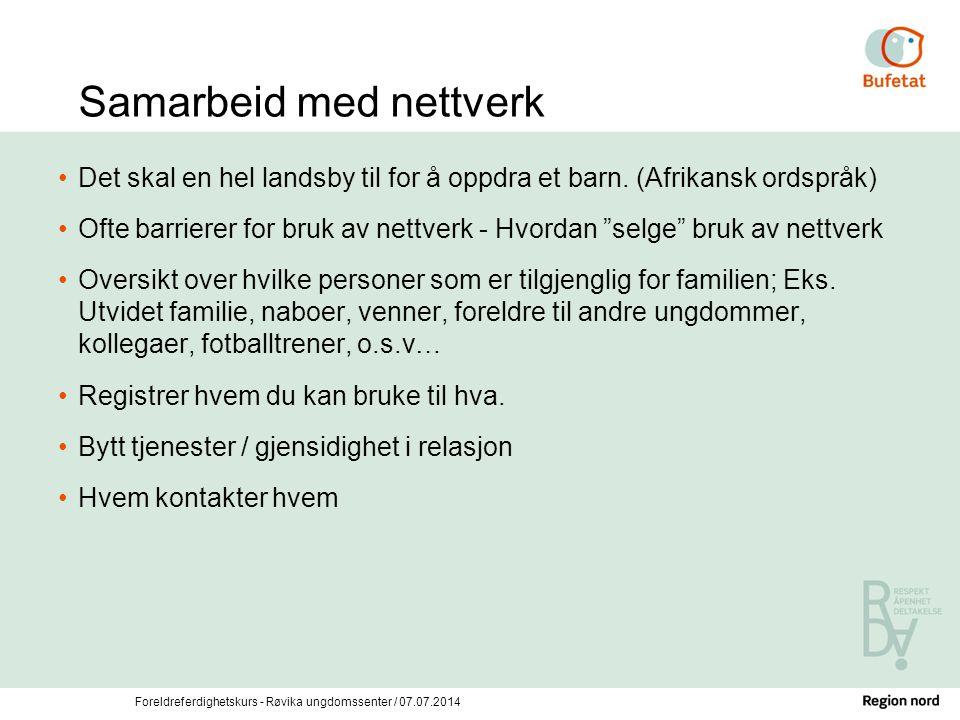 Samarbeid med nettverk