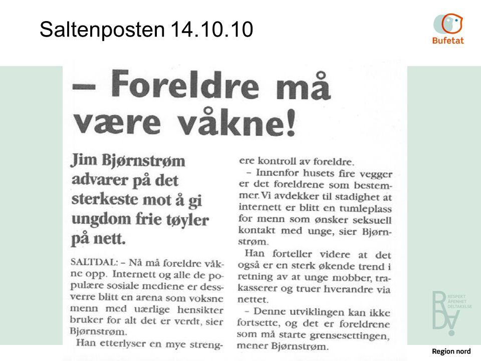 Saltenposten 14.10.10 Foreldreferdighetskurs - Røvika ungdomssenter / 04.04.2017