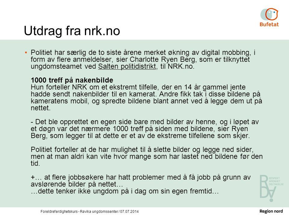 Utdrag fra nrk.no