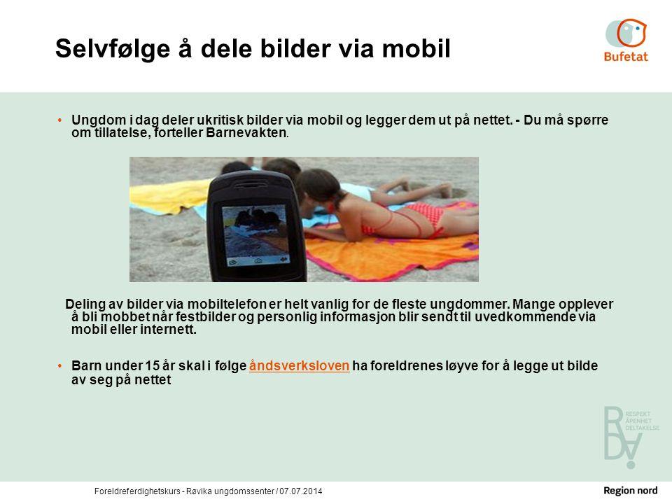 Selvfølge å dele bilder via mobil