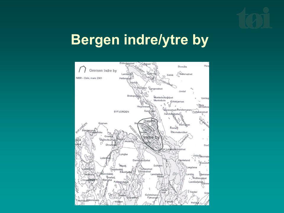 Bergen indre/ytre by Indre by Bergen = Bergenhus bydel