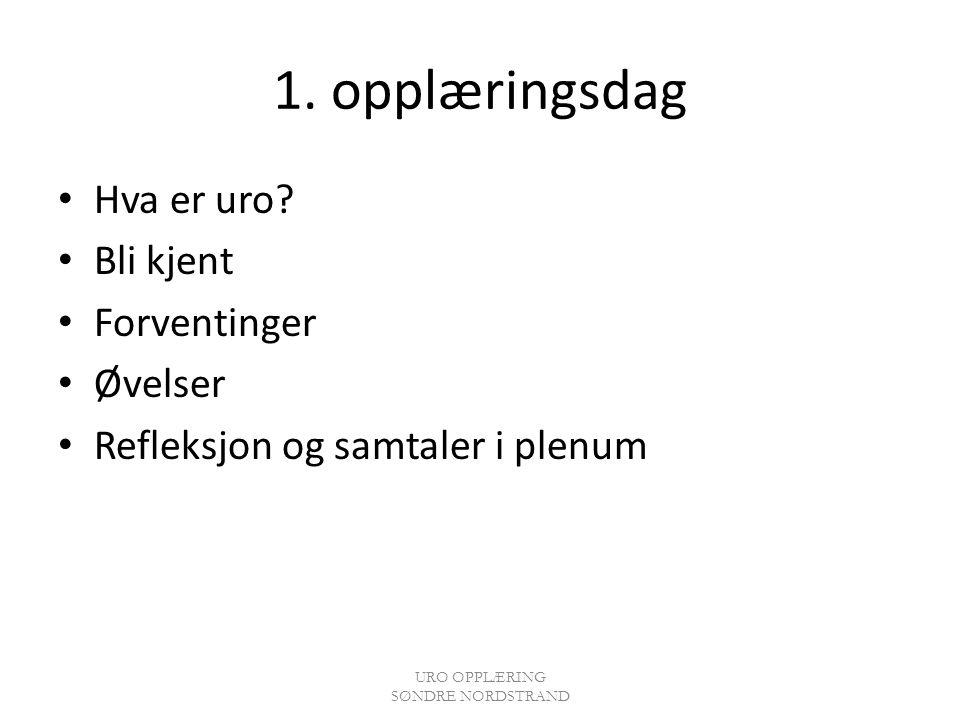 URO OPPLÆRING SØNDRE NORDSTRAND